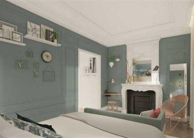 hotel-royal-madeleine-Chambre-Vert-de-gris