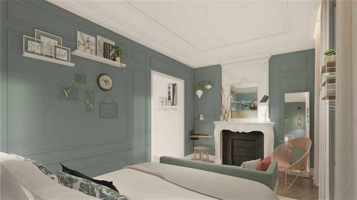 Best chambre vert de gris images - Chambre vert et gris ...